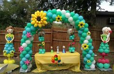 Frozen fever balloon arch