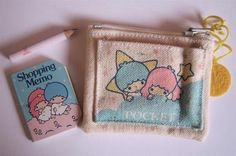 Little Twin Stars purse memo - contents by ✎☁Iron Lace☁✎, via Flickr