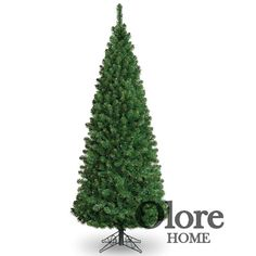 8ft Green Christmas Tree - Glacier Pencil Pine Fir - Artificial Christmas Tree