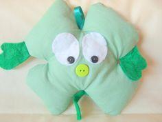 "Items similar to Green Shamrock ""Good Luck"" Stuffed Plushie Hug on Etsy Feeling Under The Weather, Sending Hugs, Say Hi, Friend Birthday, Plushies, Dinosaur Stuffed Animal, Handmade Gifts, Green, Etsy"