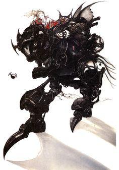 Terra & Magitek Armor - Final Fantasy VI | Yoshitaka Amano