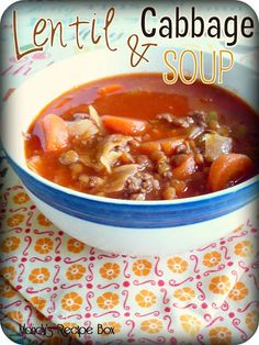 Lentil & Cabbage Soup from Mandy's Recipe Box