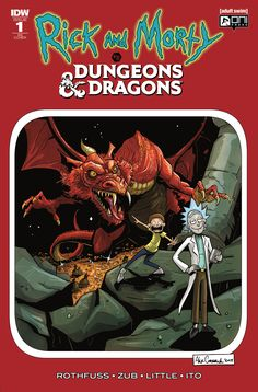 Riandck Morty vs Dungeons & Dragons - Directors Cut Ars Cut Cormack Cover & Troy Little Pencils, Jim Zub & Patrick Rothfuss Story Rare Comic Books, Comic Books For Sale, Online Comic Books, Dungeons And Dragons, Rick And Morty Poster, Rick And Morty Comic, The Kingkiller Chronicles, Patrick Rothfuss, Games To Play