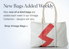 Nautical to the Core. All Sea Bags are made from Recycled Sailcloth on the Coast of Maine! #seabags #madeinmaine