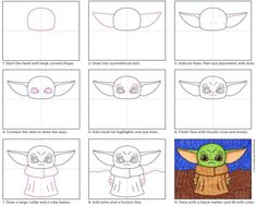 baby drawing How to Draw Baby Yoda Art Projects for Kids Yoda Drawing, Drawing For Kids, Art For Kids, Star Wars Art Projects For Kids, Cute Drawings For Kids, Sketching For Kids, Fun Art Projects, Drawing Projects, Drawing Stuff