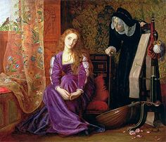 Arthur Hughes, The Pained Heart (Sigh No More, Ladies),1868