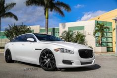 Jaguar XJL Strasse Wheels tuning cars white wallpaper background