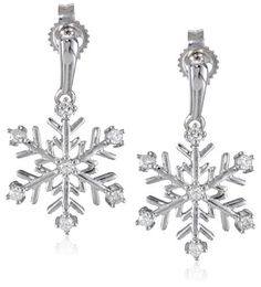 10k White Gold Diamond Snowflake Earrings (1/10 cttw, I-J Color, I2-I3 Clarity), http://www.amazon.com/dp/B002JINJUO/ref=cm_sw_r_pi_awdm_56hvub00960D3