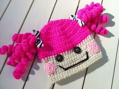 Girls Lalaloopsy Crochet Hat with Pink by BetterThanBows on Etsy, $23.95