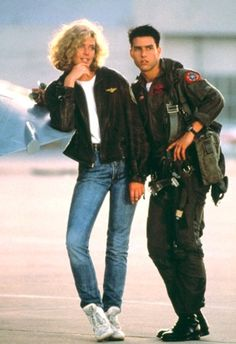 kelly Mc Gillis and Tom Cruise in Top Gun