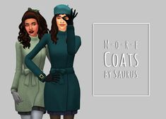 Saurus Sims - More Coats Part One - Solids Love these two coats that came with seasons, but of course there weren't quite enough swatches for my taste. I hate having every townie in the game wearing the same clothes, so here we are again; 25 solid swatches in my usual palette, made to match anything that come in the CG (+) palette ;D