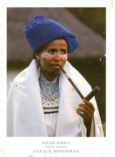 Postcrossing - Xhosa woman in traditional dress. Postcard sent by Postcrosser in South Africa.