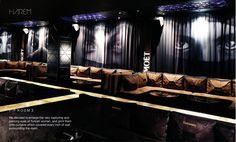 """VIP Lounge """"Covered Face"""" curtains by RSW at Harem Night Club"""