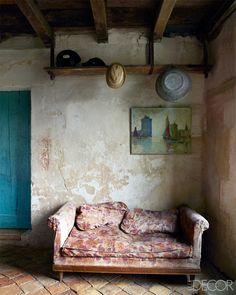 18thC French farmhouse. Elle Decor