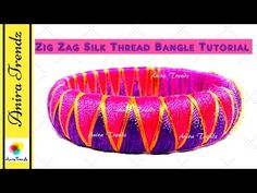 How to make zig zag silk thread designer bridal bangle at home - Easy Simple Beautiful - YouTube