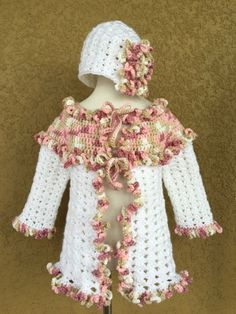 A personal favorite from my Etsy shop https://www.etsy.com/listing/288291867/victorian-baby-sweater-set-little-girls