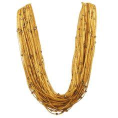 1stdibs.com | Multi Strand Gold Woven Thread Necklace