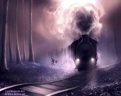 Train train quotidien by AquaSixio Cyril Rolando Art Motion gif M.Alina