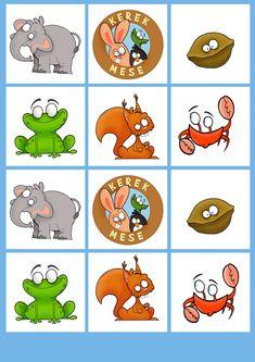 B típus 2. oldal - Kivágható kártyás memória játék állatokkal - kerekmese Yoshi, Bowser, Puzzle, Comics, Cards, Fictional Characters, Teak, Puzzles, Comic Book