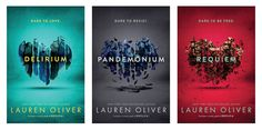 The Delirium series by Lauren Oliver - new 2016 package design