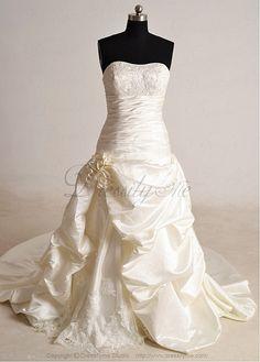 Elegant Exquisite Charm Satin Strapless Wedding Dress. $203