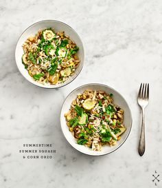 summersquash and corn orzo via loveandlemons