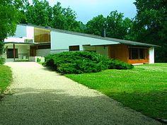 Maison Louis Carré. 40 miles SW of Paris. 1959. Alvar Aalto