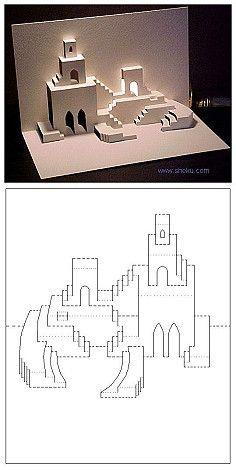 【立体卡片】沙漠之城