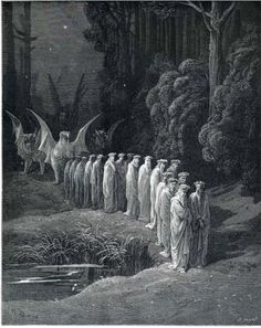 Purgatorio - Gustave Dore / well its nice to have an image of where I might be headed pray for me people pray for me.