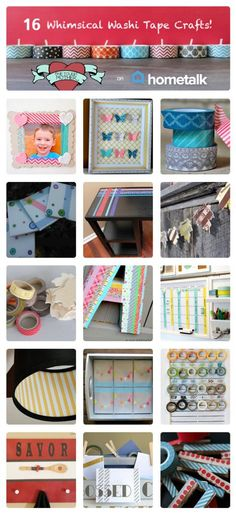 16 Whimsical Washi Tape Crafts | curated by 'One Tough Mother' blog!