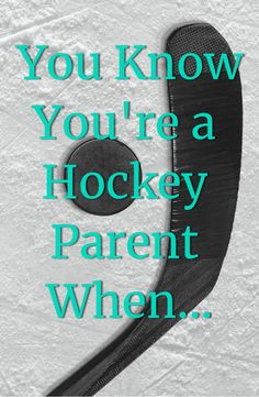 """Having a sense of humor about the hockey parent lifestyle definitely helps! Here are the top """"You know you're a hockey parent when"""" moments. Hockey Girls, Hockey Mom, Hockey Stuff, Baseball Mom, Football, Hockey Goalie, Ice Hockey, Hockey Party, Tiny Man Cave Ideas"""
