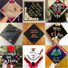 Latina gradation cap ideas