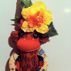Frida Kahlo Sock Monkey made to order by POST by katarinathorsen, $60.00