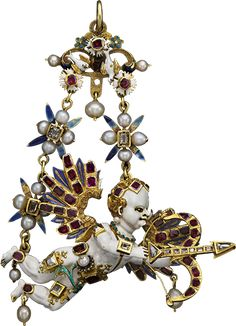 Renaissance cupid Jewel brooch