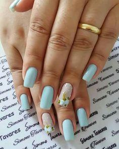 Nail Polish Designs, Nail Polish Colors, Nail Art Designs, Holiday Nails, Christmas Nails, Different Nail Shapes, Flower Nails, Beautiful Nail Art, Blue Nails