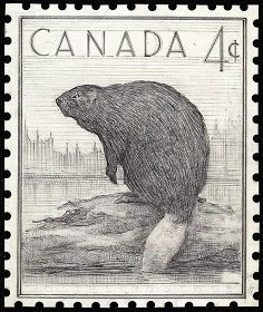 Canada .4¢ Beaver stamp | National Archives of Canada