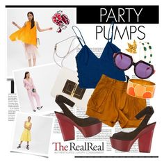 """""""Summer Party Dressing With The RealReal: Contest Entry"""" by ashley-rebecca ❤ liked on Polyvore"""