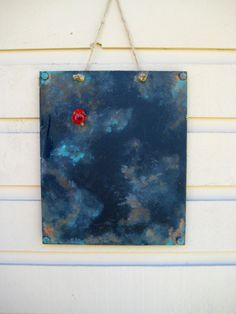 Magnetic Chalkboard with an aged rusted and by jensdreamdecor, $28.50