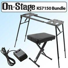 On Stage KS7150 Platform Style Keyboard Stand Black Outfit by On Stage. $79.95. On Stage KS7150 Platform Style Keyboard Stand Black Kit.
