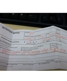 Omg. I laughed so hard at this. #detentionslips