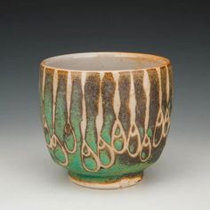 Julie Covington #ceramics #pottery wax resist