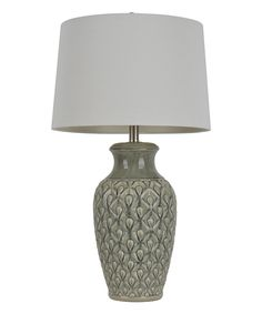 Look at this #zulilyfind! Gray Crackle Table Lamp by Décor Therapy #zulilyfinds