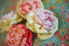 Greedy For Colour: How to Crochet a David Austin Rose.