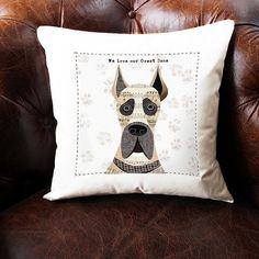 Great+Dane+personalised+dog+cushion+cover