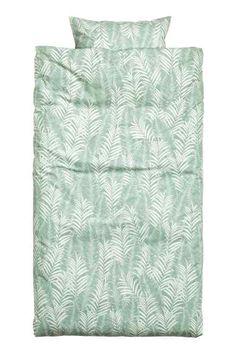 Dekbedset met palmbladprint