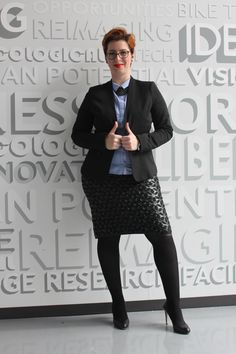 Black #leather #skirt rocks my office outfit – Fabulous beyond size flaviabucerzan.ro