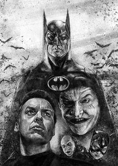 This is my tribute to the Batman movies of Tim Burton, starring Michael Keaton as Batman (Batman Batman Returns). Batman Artwork, Batman Comic Art, Im Batman, Batman Bike, Batman Robin, Batman Returns, Gotham City, Nightwing, Batgirl