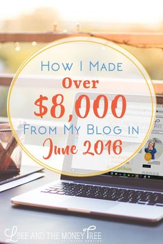 How I make money blogging and have been able to increase my income while decreasing my time spent working each month. If I can do it, you definitely can.