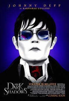 Strange is Relative - Johnny Depp - Dark Shadows Movie Poster