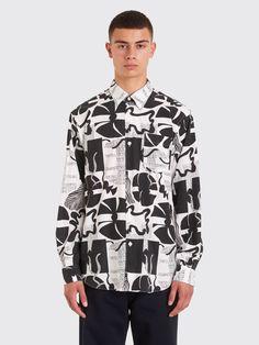 199b2798036 Très Bien - Très Bien Classic Shirt Heather Print Black   White